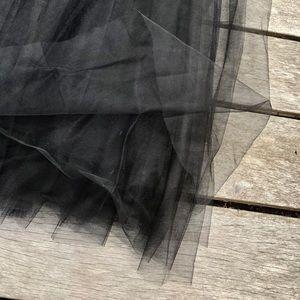 Skirts - 🖤 Gorgeous Black Tulle High Waisted Long Skirt 🖤
